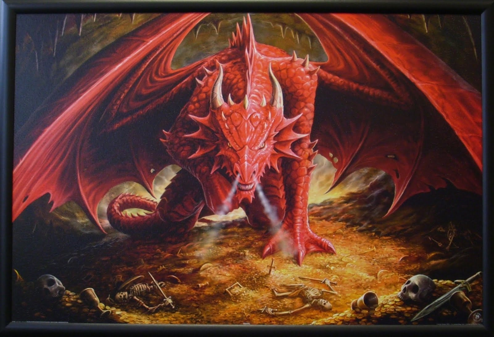 Roter Drache Bild