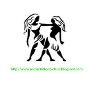 Zodiac Tattoo Picture: Gemini Tattoo Zodiac Sign Picture