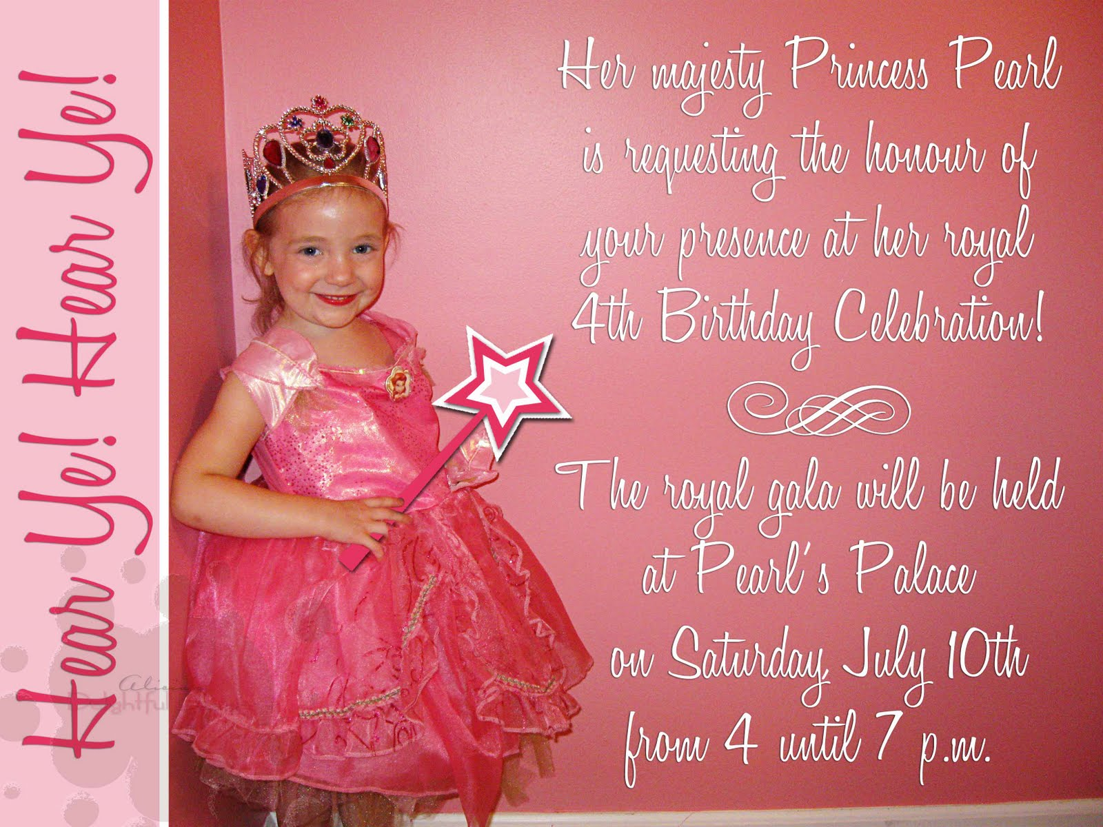 Birthday Invitation Card 7 Years Old – 7 Year Old Birthday Invitation Wording