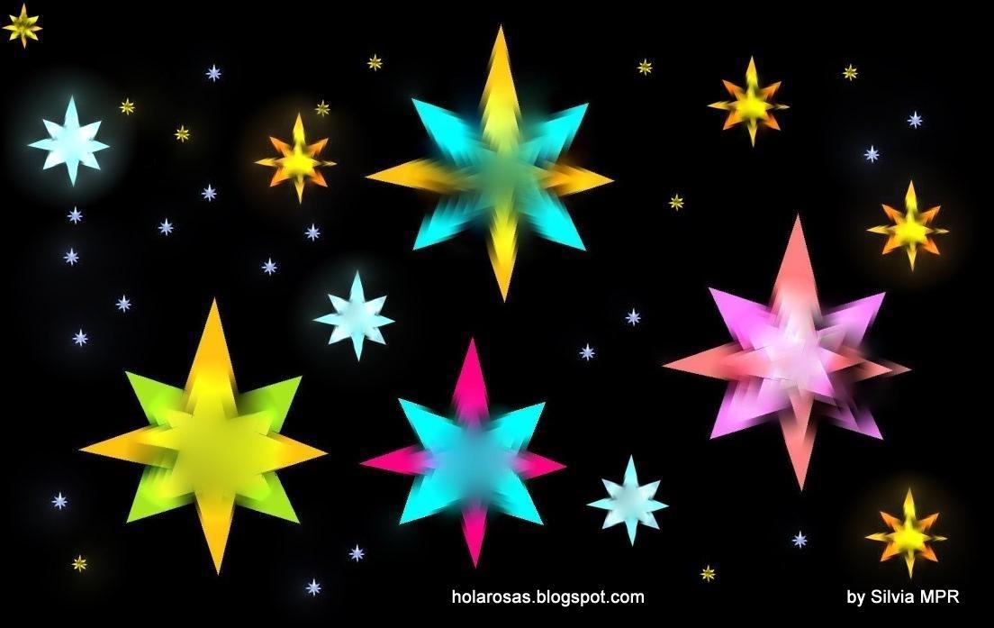 Fondos De Corazones Y Estrellas: Fondos De Estrellas De Colores Y Corazones