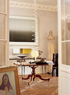 Jacques Grange dining room design