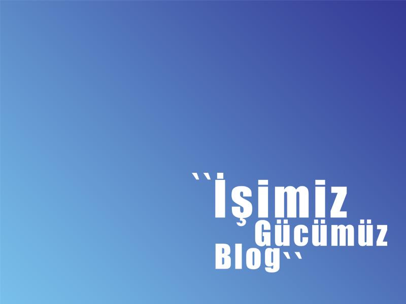 İşimiz gücümüz blog! -ama neden?-