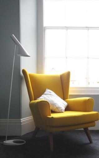 Accent Chair Gold Yellow