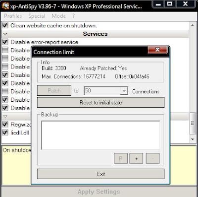 Connection limit patch for P2P