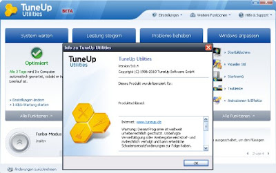 TuneUp Utilities 2010 Beta 2 Testversion