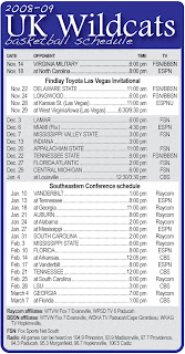 image about Uk Basketball Printable Schedule titled The Drive On line: Printable United kingdom basketball plan