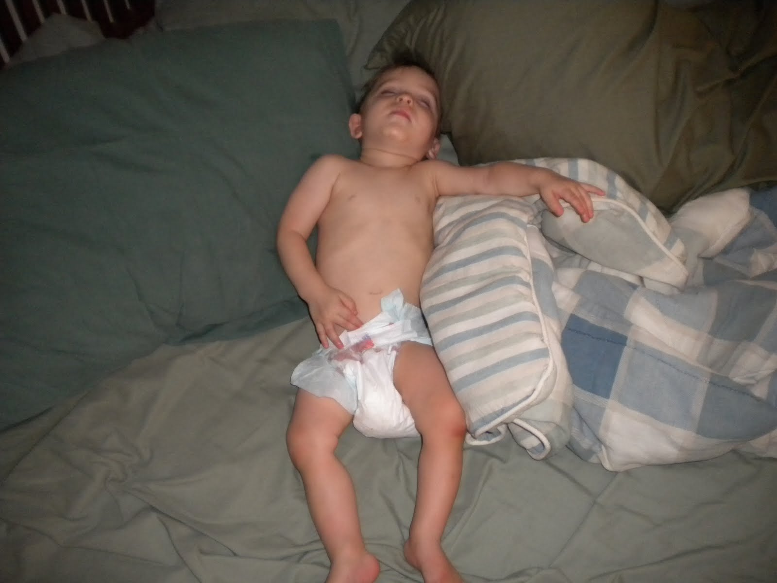 Diaper girl sky wetting her diaper while in bed 9