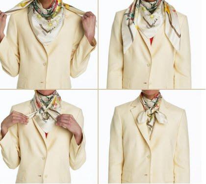 вариантов как завязать шейный платок шарфы шарф стиль совет ролик.