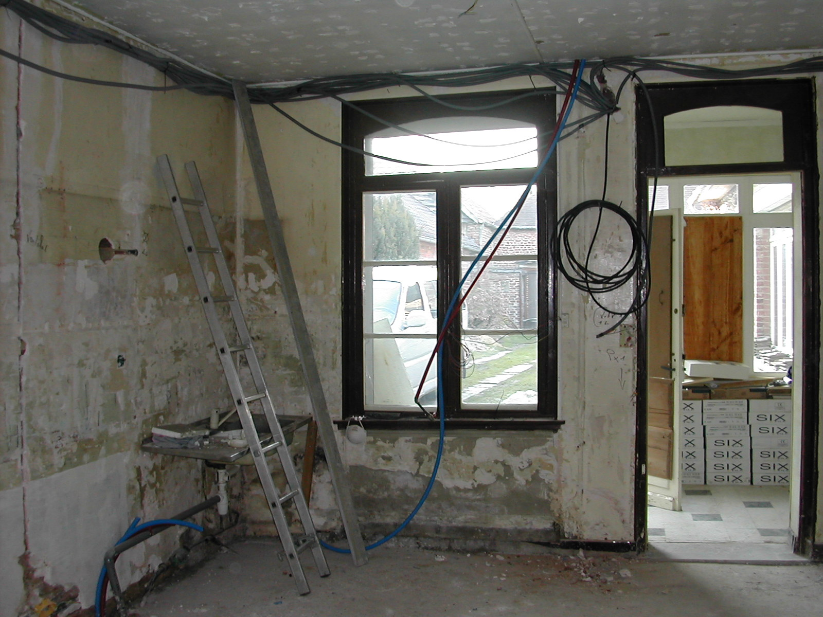 r novation d 39 une cuisine sol isolation cloisonnement. Black Bedroom Furniture Sets. Home Design Ideas
