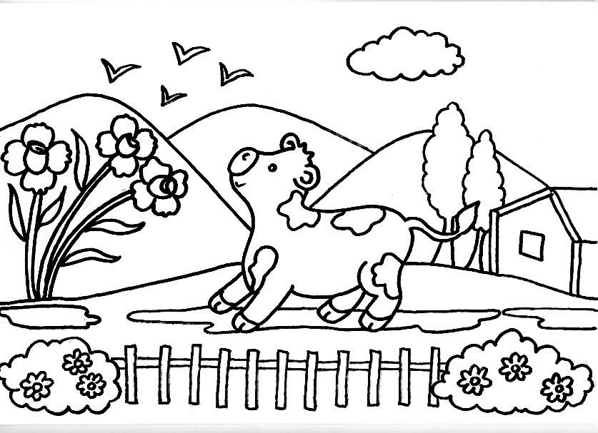 Dibujos De Vacas Animadas Para Colorear: Dibujos Para Imprimir Y Colorear De Vacas 2 圖片, 上色: Dibujo