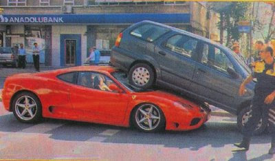 Ferrari weird crash