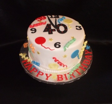 A Cake For Her Husbands 39th Birthday Since She Couldntt Decide On Theme We Decided To Go With Fun And Playful Design Yet Including Clock