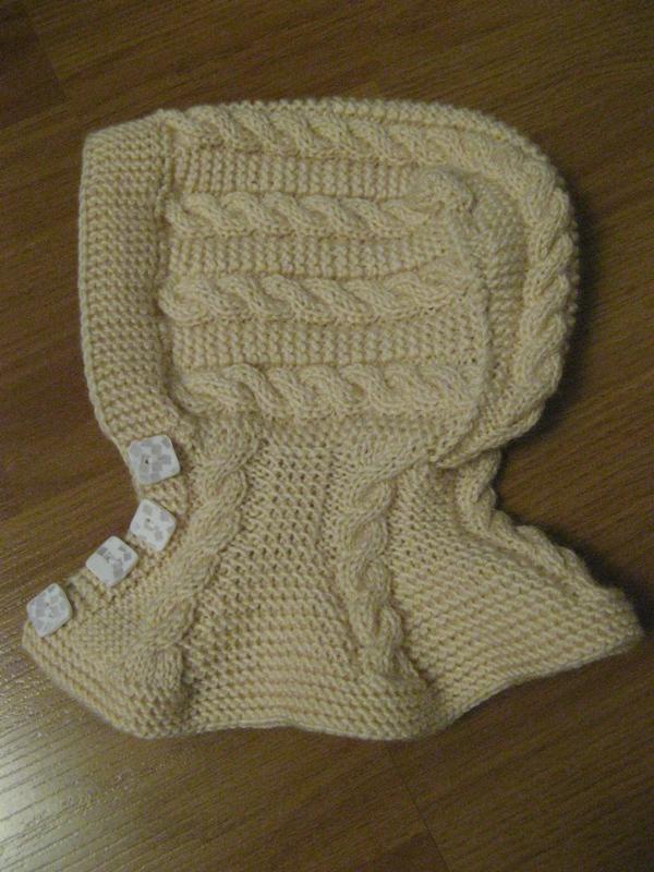 Шапка-шлем.  Шапочка и шарфик для малыша.