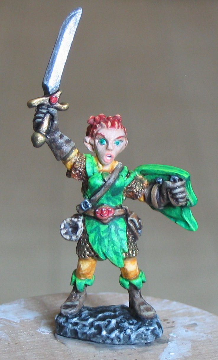 Female Gnome: Tales From Yarnvana: RPG Painted Mini
