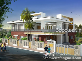 """3d exterior of bungalow"""