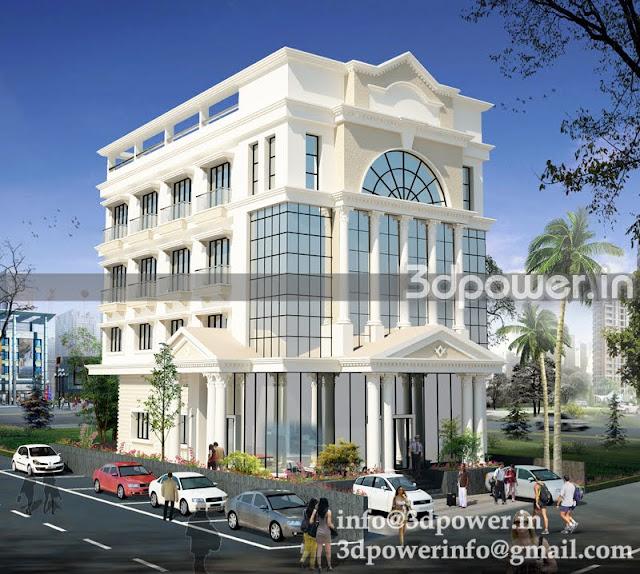 """3d office building Greek architecture"""