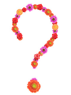 Question mark of flowers