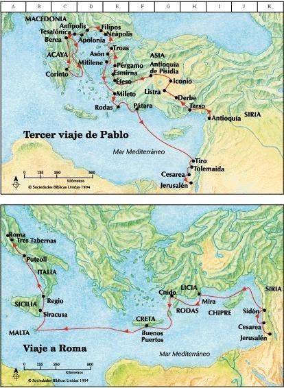 Guías para la clase de religión: Cuarto viaje de Pablo