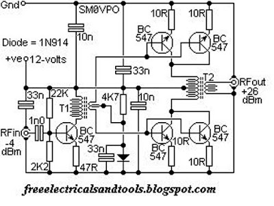 QRP HF LINEAR AMPLIFIER Schematic | Best For Circuit and Wiring