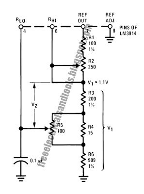 Greatly Expanded Scale Circuit Using LM3914 : Electronic