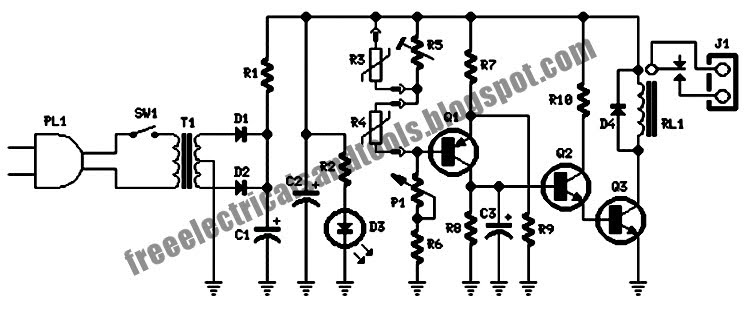 Free Schematic Diagram: Heating Circuit System for Thermostat