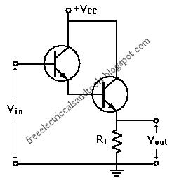 Free Schematic Diagram: NPN Transistor Darlington