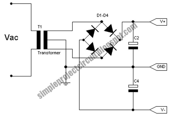 3rd eye simple basic symmetric power supply circuit