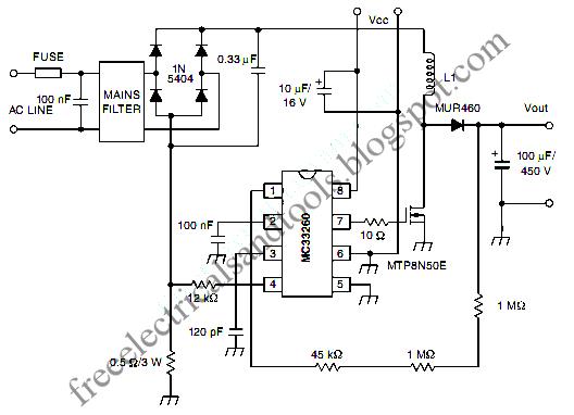 Free Schematic Diagram: Active Power Factor Correction Circuit