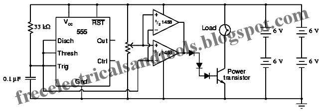 Free Schematic Diagram: PWM Power Controller Circuit
