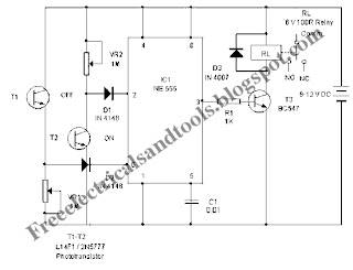 Free Schematic Diagram: Light Controlled Bistable Circuit