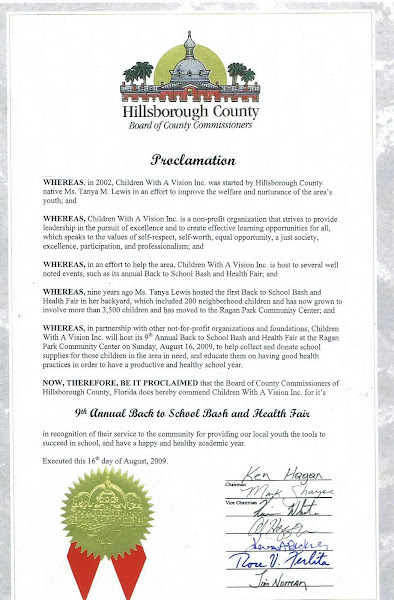 Proclamation (Hillsborough County Commissioners)