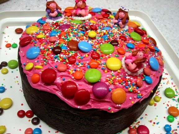 Yellow Kids Birthday Cake