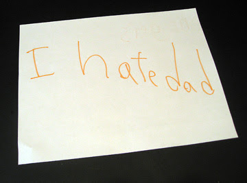 i hate dad sign