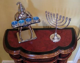 santa and menorah
