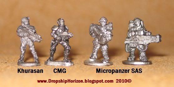 DROPSHIP HORIZON: REVIEW: Micropanzer 15mm Sci Fi British SAS