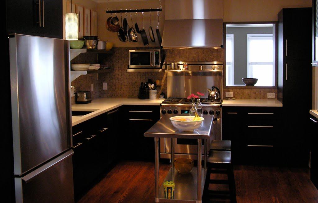 Excepcional Moderna Cocina Con Gabinetes Negros Galería - Ideas para ...