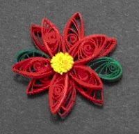 quilled christmas poinsettia