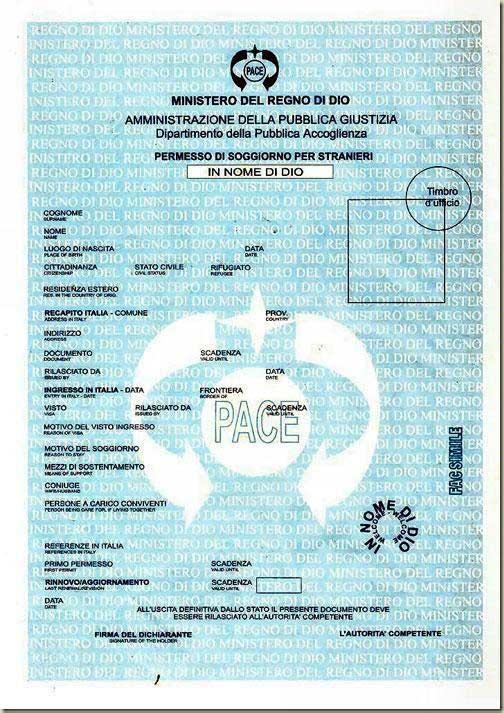 Amici in allegria clandestini con permesso di soggiorno for Test italiano per carta di soggiorno 2016