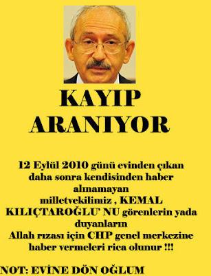 Kılıçdaroğlu Kayıp İlanı