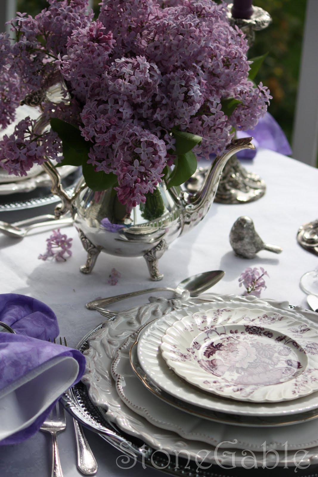 Lilac Tablescape Stonegable