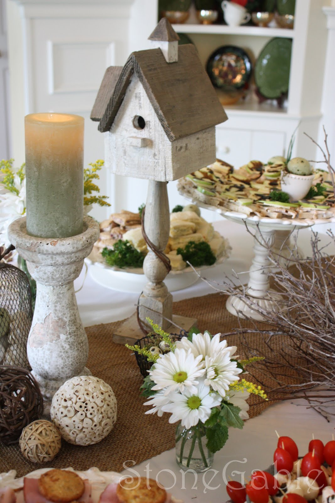 A Bridal Shower Tablescape Stonegable