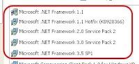 Microsoft .NET Framework, risolvere errori di installazione e disinstallazione