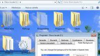 Cambiare lo sfondo in una cartella con un'immagine in Windows