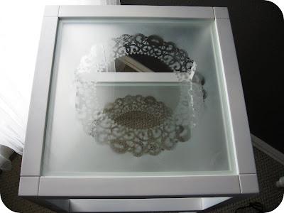frosted glass table top by amanda at serenity now