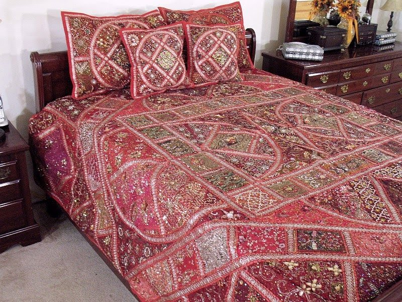Modern Furniture Indian King Duvet Set Sari Bedding