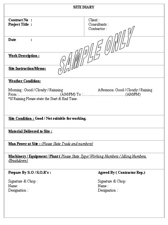 Daily Construction Report Template   Samples.csat.co