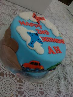 Citscakes Transportation Theme Birthday Cake For Boys