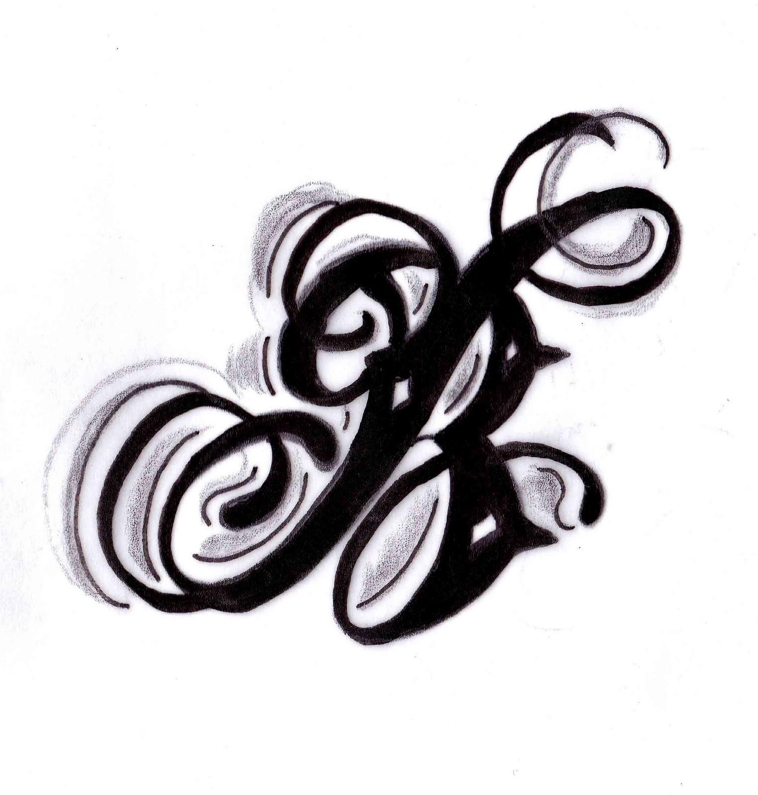 Russell Butler: B Tattoo Design