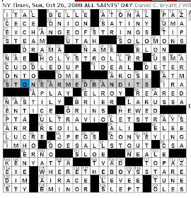 Rex Parker Does The Nyt Crossword Puzzle October 2008