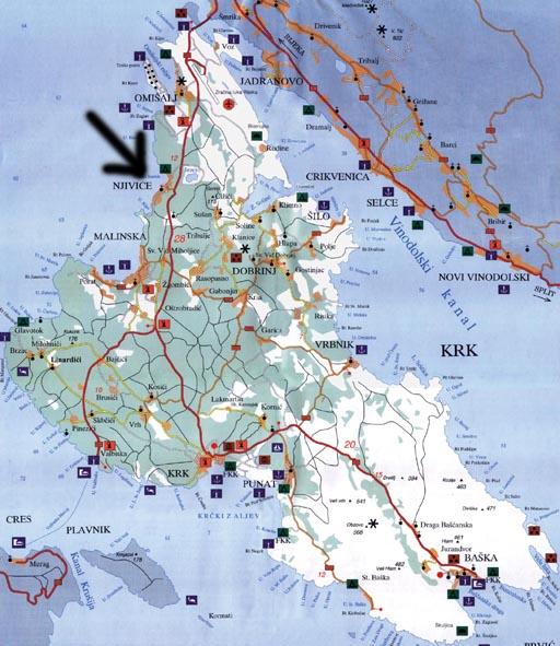 Cartina Krk.Troppo Poco Tempo Per Mille Progetti Vacanze A Njivice Isola